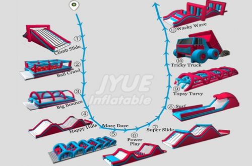 2018 New Designed Inflatable 5k Run 5k Vancouver Inflatable Obstacle Course