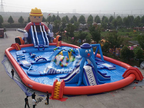 Outdoor Water Activities Lego Above Ground Inflatable Water Park