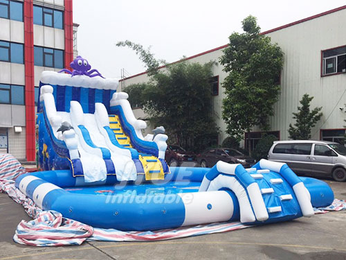 Ocean Theme Octopus Inflatable Water Land Mobile Park For Backyard Water Inflatables