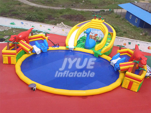Amusement Park Outdoor Jungle World Kids Inflatable Water Park Cheap