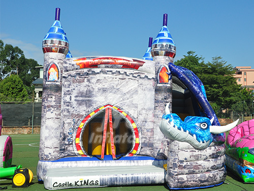 Commercial Cheap Jumping Bouncy Castle King Inflatable Combo