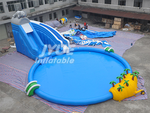 Elephant Water Amusement Park Products Inflatable Water Park With Slide