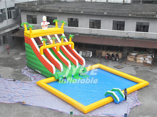New Business Adult And Kids Superman Inflatable Water Park Price