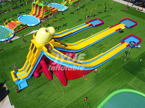 Commercial PVC Material Hippo Giant Inflatable Water Slide For Adult