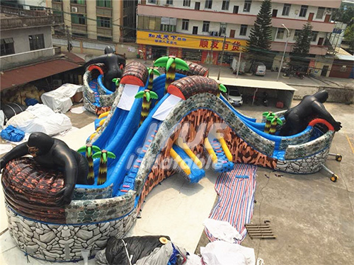 Huge Gorilla Jungle Theme Water Sports Equipment Inflatable Water Park