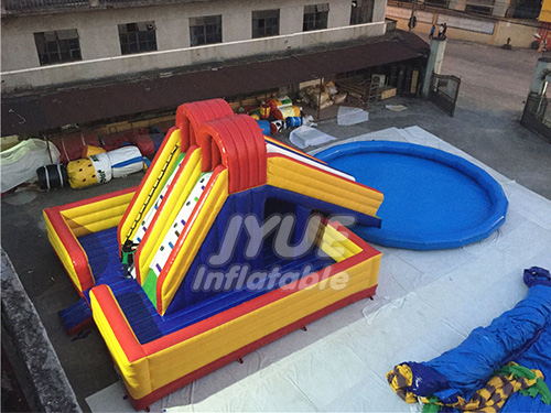 Affordable Price Custom Project Portable Inflatable Water Slide Park With Pool