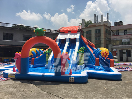 Summer House Water Park Playground Equipment Inflatable Water Amusement Park