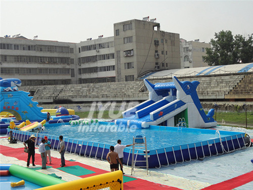 Large Intex Rectangular Metal Frame Swimming Pool