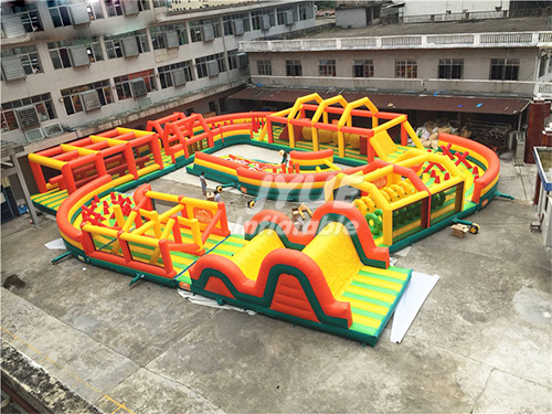 Kids Obstacle Course Equipment Inflatable Sport Games Rainbow Inflatable Obstacle Course