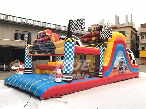 Commercial Kids Playing Inflatable Bouncy Castle Inflatable Obstacle Course Park