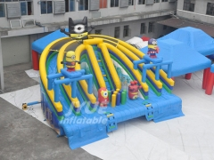 Minions Above Ground Water Pool Slide inflatable water slide for swimming pool