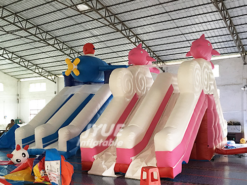 Cheap Commercial Dolphin Swimming Pool Slide Kids Pool Slide Inflatable