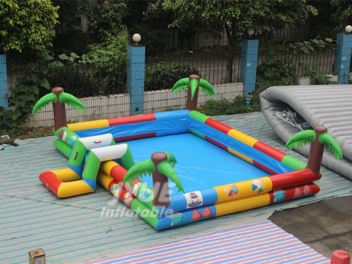 Summer Indoor Outdoor Kids Jungle Blow Up Swimming Pool