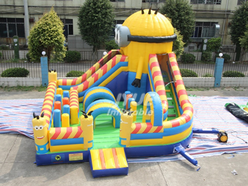 Minions Playground Giant Inflatable Bouncer Castle House With Slide
