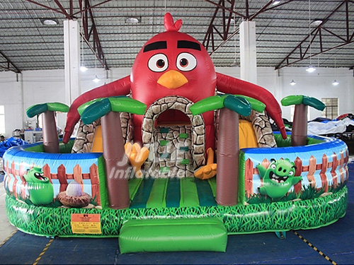 Angry Bird Attractive Jumping Huge Inflatable Trampoline Playground