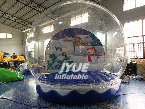 Merry Christmas Huge Inflatable Human Size Snow Globe Inflatable Bubble Tent And Tunnel