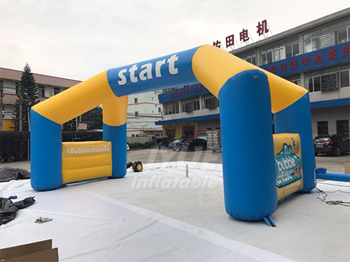 Custom Shape And Logo Inflatable Start Arch For Event Entrance Race Arch