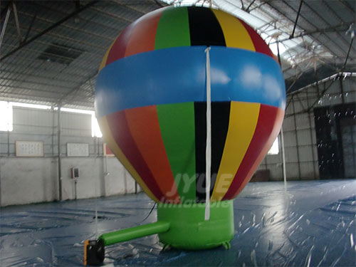 Inflatable Advertising Air Balloon On Roof With Blower