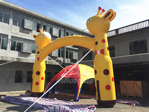 Advertising Inflatable Arch Gate Giraffe Inflatable Entrance Arch
