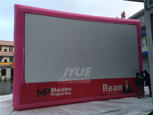 Custom Advertising Inflatable Movie Rear Projection TV Screen