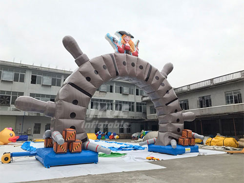 Outdoor Promotion Cheap Pirate Ship Inflatable Arch For Event
