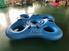 4 Person Inflatable Water Tube Air Chamber Cloverleaf Inflatable Water Park Tube