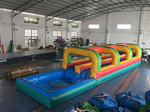 0.55mm PVC Tarpaulin Wild Splash Inflatable Slip N Slide
