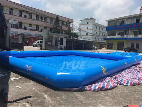 Square Blow Up Outdoor Inflatable Swimming Pool With Logo Printing