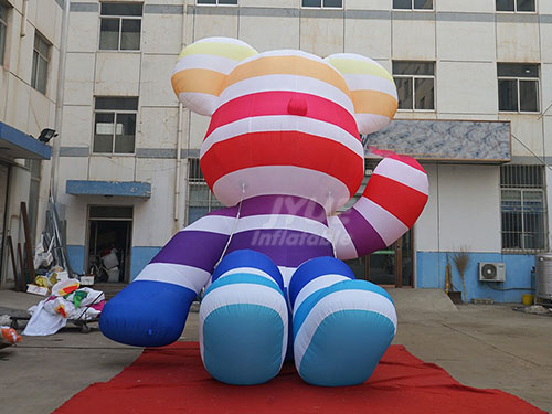 Christmas Stage Decoration Lovely Inflatable Bear Characters