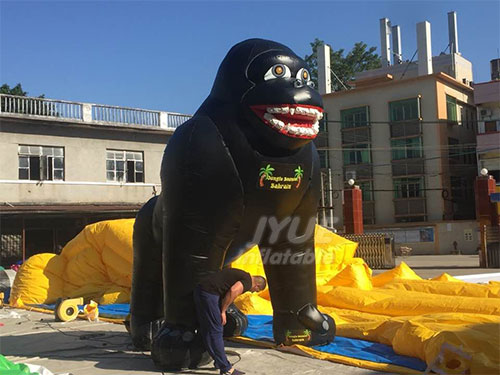 Customized Chimpanzee Inflatable Cartoon, Large Gorilla Inflatable Model For Advertising