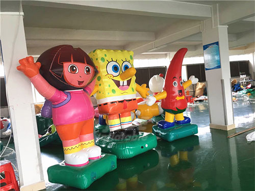 Customized Advertising Inflatable Animal Cartoon, Inflatable Spongebob Cartoon Characters For Display