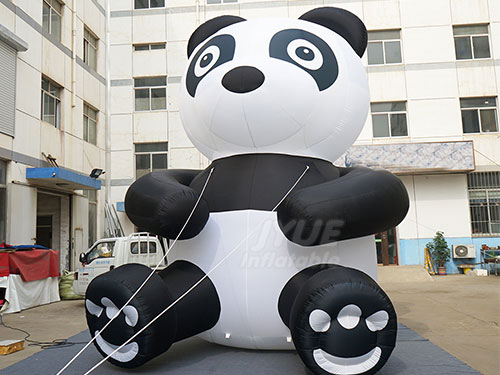 Giant Inlatable Panda Cartoon For Outdoor Event
