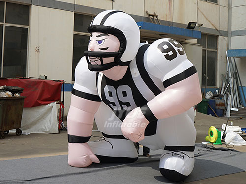 Sports Project Promotional Inflatable Rugby Player Outdoors