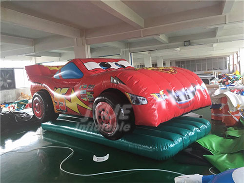 PVC Tarpaulin Customized Advertising Inflatable Car Cartoon For Events