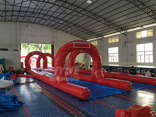 New Inflatable Island City Slide Play Center Small Inflatable Water Park Tube Slide