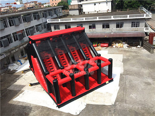 Jump Air Bag With Inflatable Jumping Platform Stunt Jump Inflatable Tower