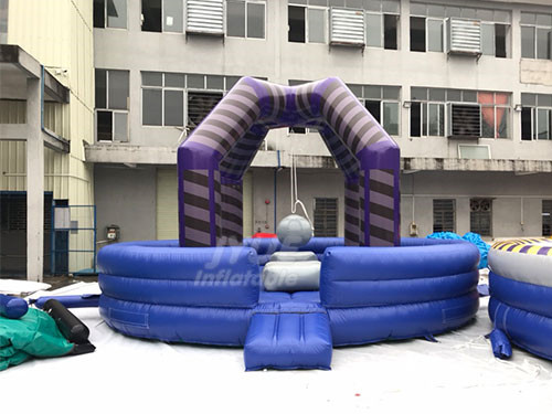 Kids Interactive Inflatable Wrecking Ball / Demolition Ball Game For Sale