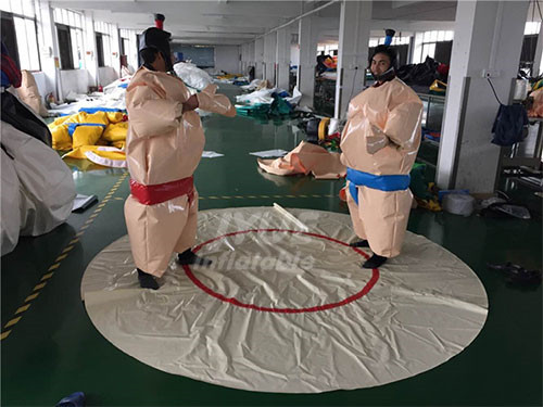 Sport Game Padded Fighting Inflatable Sumo Wrestling Suit With Arena
