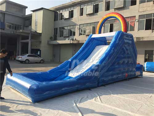 Commercial Wet N Dry Rainbow Inflatable Water Slide For Kids