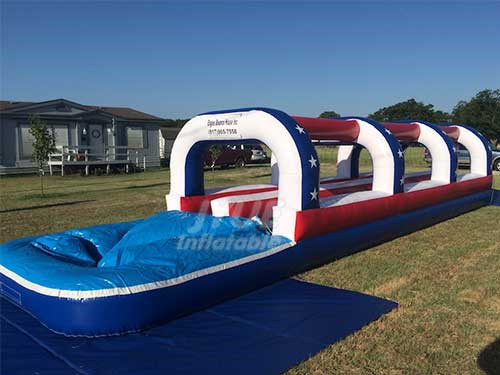 Custom Commercial Water Slides Inflatable Nip Slip N Slide For Kid Sale