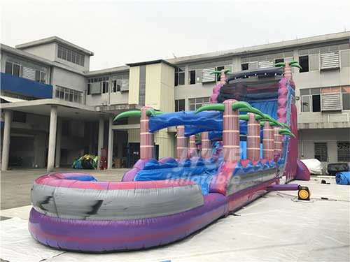 New Jungle Theme Inflatable Water Slide With Pool For Amusement Park