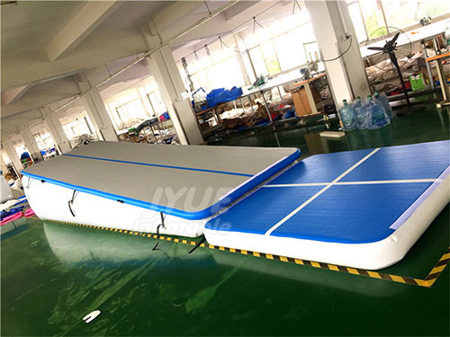 Hand Made Cheap Soft Landing Ramp Mat Tumble Track Inflatable Air Incline For Gymnastics Training