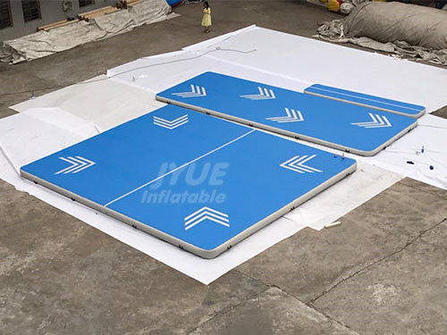 Customized Logo Airtrack Gymnastics Mat Inflatable Aqua Air Track With Free Pump