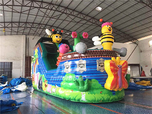 Commercial Hot Sale Inflatable Bee Pirate Air Slide For Kids Playground