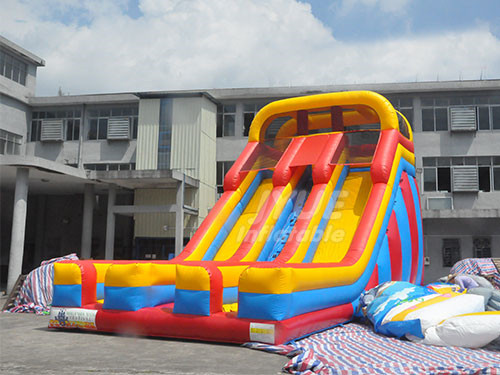 Kids Party Commercial Double Lane Inflatable Stair Slide For Children