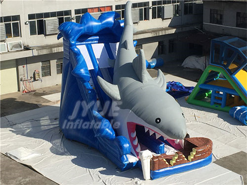 Child Fun Funny Freestyle Family Shark Belly Inflatable Slide
