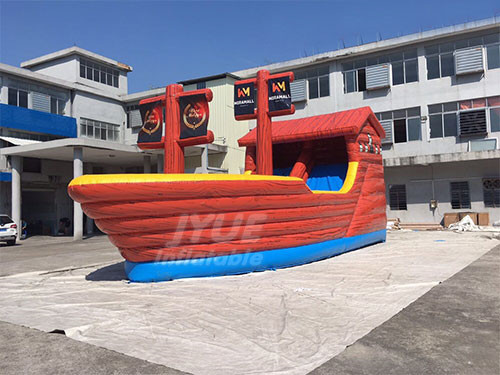 Size 0.55mm Giant High Inflatable Pirate Ship Adult Slides