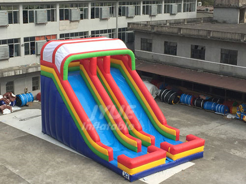 Blow Up Slide Double Lanes Inflatable Slide On Sale