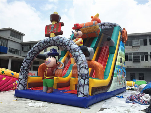 Commercial Use Giant Inflatable Pirate Ship Slide For Kids