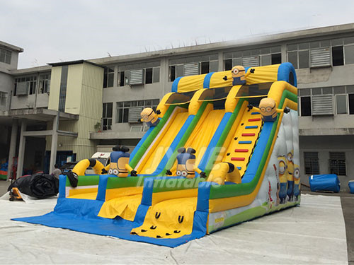 Party Rental Amusement Park Play Equipment Inflatable Minions Slide For Sale